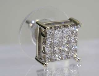 IMPRESSIVE .64CT PRINCESS DIAMOND INVISIBLE SET 14K W/ GOLD SINGLE