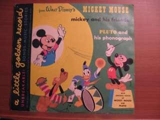 1949 Walt Disneys MICKEY MOUSE PLUTO & his phonograph golden record