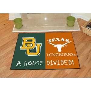 NCAA Baylor Bears / Texas Longhorns Rivalry Fans Floor Rug