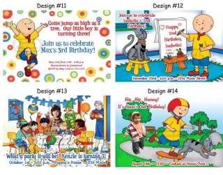 Caillou ~ Birthday Party Ticket Invitations, Supplies, and Favors