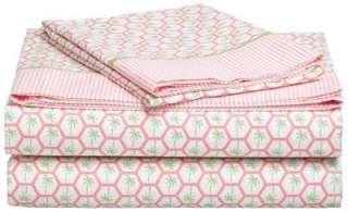Tommy Hilfiger ,3 Piece Bed Sheet Set Twin Size, West Palm Tree