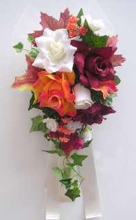 Centerpieces Bridal Bride Flower Wedding Decoration PERIWINKLE WHITE