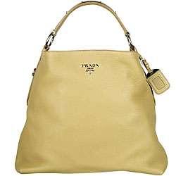 Prada Vitello Daino Green Hobo style Bag