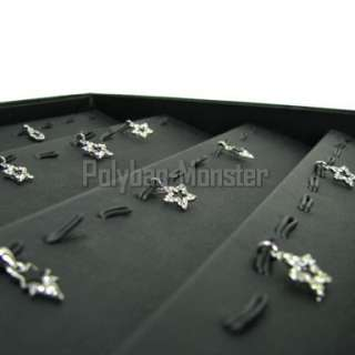 Large Black Jewelry Shop Display Stand Pendants Tray