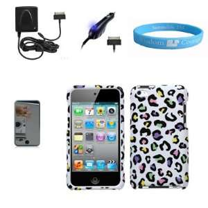 Rubberized Matte Finish Dog Paw Case for Latest 4th Gen Apple iPod