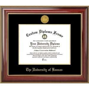 University of Kansas Jayhawks   Gold Medallion   Mahogany