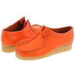 Clarks Wallabee   Womens Tangerine Patent Leather  Overstock