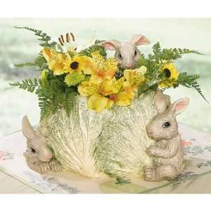 Bunnies & Cabbage Planter