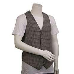 Original Penguin Mens Plaid Wool Vest