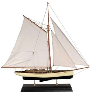 Nautical Decor 1930 Classic Yacht Wooden Model Sailboat |