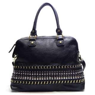 New Fashion Stud Natalie Shoulder Bag Hobo Satchel Tote Purse Handbag