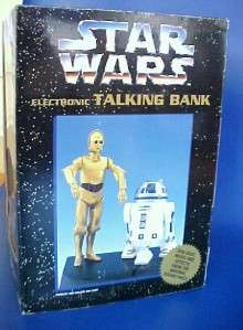 Star Wars Electronic Talking Bank R2 D2 and 3CPO Animated