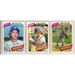 1980 Topps Baseball Team Set (Rick Sutcliffe Rookie) (Dustry Baker