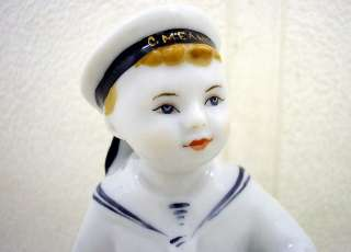 ANTIQUE USSR RUSSIAN LFZ LOMONOSOV PORCELIAN FIGURINE BOLD BOY with