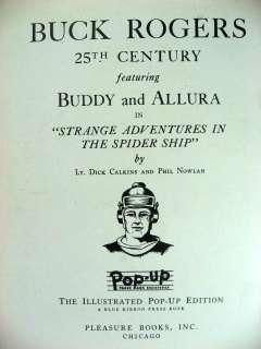 BUCK ROGERS 1935 POP UP BOOK ORIGINAL