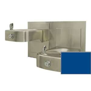 barrier free, wall mounted, dual 14 gauge satin finish stainless steel