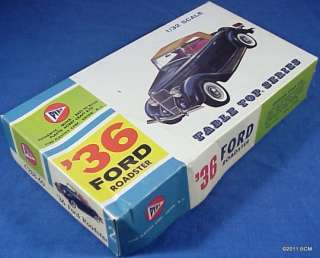 unbuilt PYRO 1936 FORD ROADSTER model car kit from the 1960s for