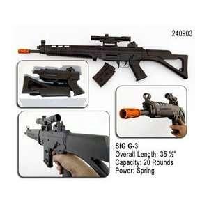 Sig Sauer 550 Assault Rifle FPS 150, Open Stock, Scope Airsoft Gun