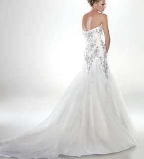 custom Strapless mermaid prom ball weddingevening bridalbridesmaid