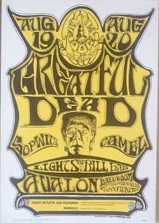 Grateful Dead, Sopwi Camel original 1966 concert poster Family Dog
