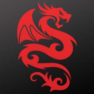 Tribal tattoo design Decal Sticker Dragon Art WRS26