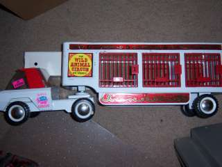 BUDDY L WILD ANIMAL CIRCUS TRUCK AND TRAILER 1950