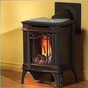 Arlington Cast Iron Natural Gas Stove   Majolica Brown: Home & Kitchen
