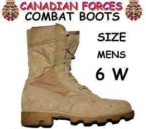 CANADIAN ARMY COMBAT BOOTS   SIZE 6 W (245/104)   BK