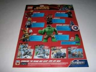 LEGO Marvel THE AVENGERS Promo Poster Thor Iron Man Hulk Captain