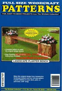 Landscape Planter Bench Yard Art Woodworking Pattern