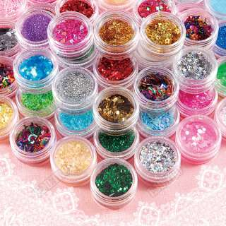 60 Colors Bling Nail Art Decoration Glitter Dust Powder