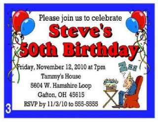 50th BIRTHDAY PARTY INVITATIONS PERSONALIZED