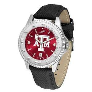 Texas A&m University Aggies Competitor Anochrome  Poly/leather Band