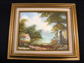 Cloth And Gold Wood Frame With Pretty Oil Painting