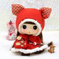Lovely Cute Collectible Doll 18cm DDUNG red riding hood