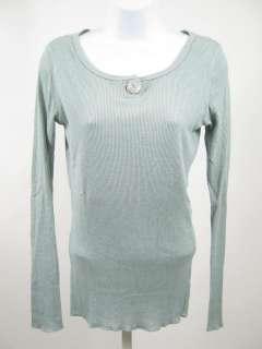 MICHAEL STARS Seafoam Green Long Sleeve Top Shirt Sz OS