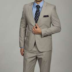 English Laundry Mens Slim Fit Light Grey 2 button Suit