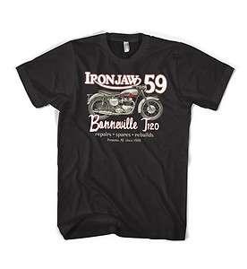 Jaw Classic 1959 Triumph Bonneville motorcycle T120 vintage t shirt