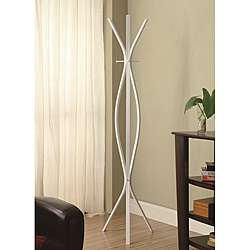 Modern White Finish Metal Coat Rack  Overstock