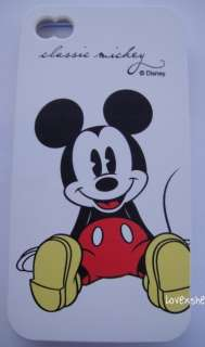 4G 4S   SOFT SILICONE RUBBER SKIN CASE COVER Disney Mickey Mouse Red