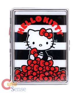 Sanrio Hello Kitty ID Card Case Stainless  Red Bows