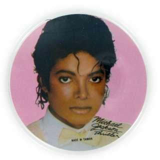 Vintage Michael Jackson Thriller Button Pin Brooch