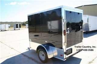 Enclosed Cargo Motorcycle Trailer Ramp & Side Door w/ Color