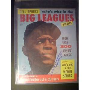 Willie Mays San Francisco Giants Autographed 1958 Dell Sports Whos