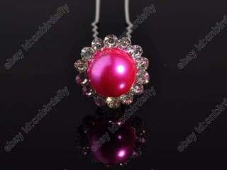 jewelry lots 200X Rhinestone Big Pearl Beads Braid Hair pin accessory