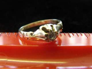 ESTATE ANTIQUE OLD VICTORIAN 14K YELLOW GOLD DIAMOND RING .1 CT SIZE 3