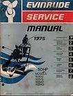 Evinrude Outboard Motor service manual 40hp 1975