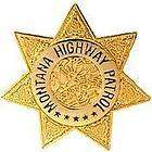 montana highway patrol officer police lapel badge pin