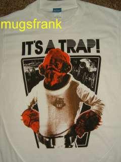 Admiral Ackbar Its A Trap Star Wars White T Shirt