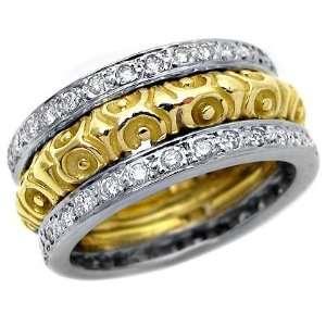 .85ct Round Pave Diamond Wedding Ring Band 14k Yellow